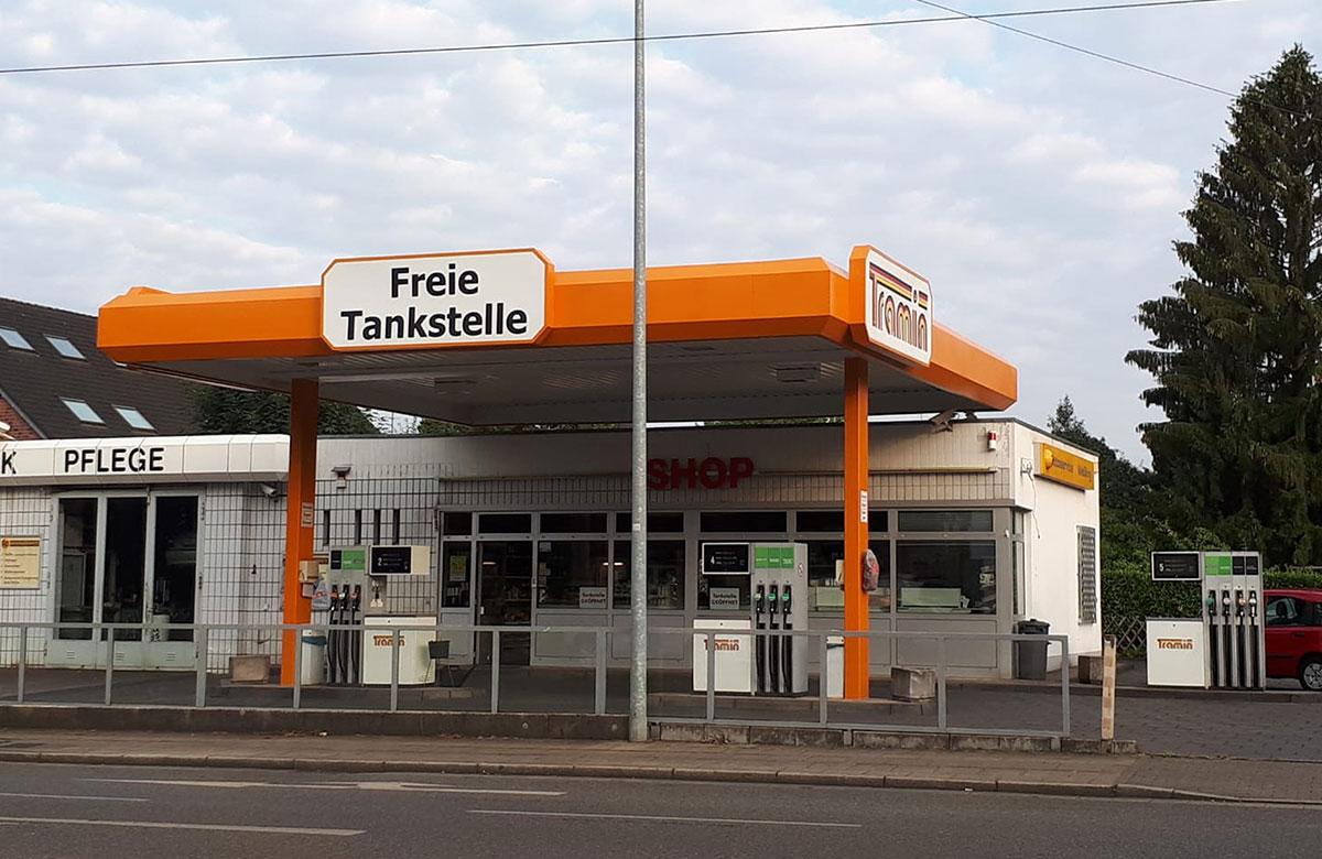 Tramin Tankstelle Broich