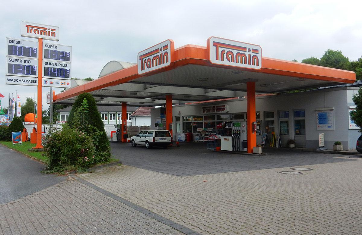 Tramin Tankstelle Mülheim Saarn